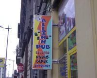 világító tábla pub